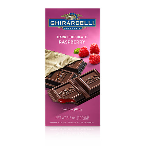 Ghirardelli Raspberry Dark Chocolate Bar (100g)