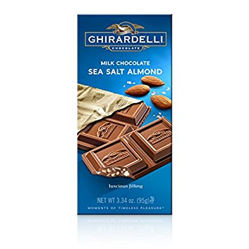 Ghirardelli Sea Salt & Almond Milk Chocolate Bar (100g)
