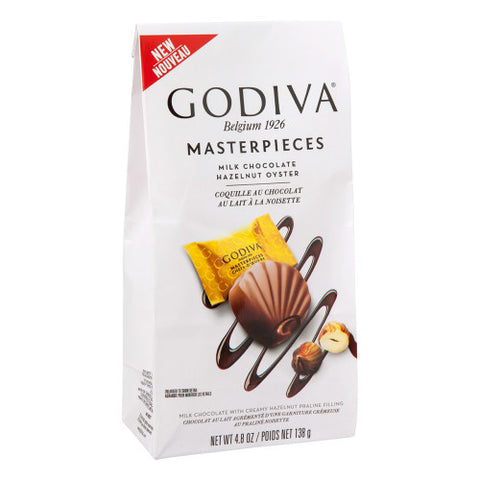 Godiva Milk Chocolate Hazelnut Oyster Masterpieces - 17 Chocolates (138g Bag)