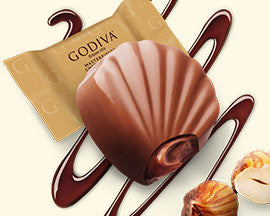 Godiva Masterpiece Hazelnut Oyster Milk Chocolates