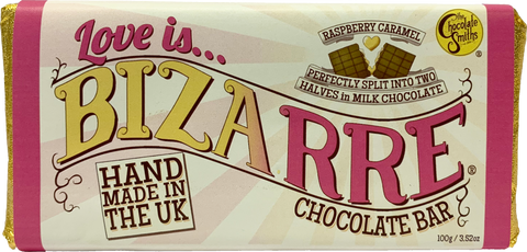 Love Is... Raspberry Caramel Milk Chocolate Bizarre Bar - 100g