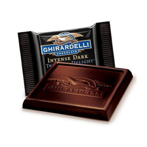 An unrivalled intense chocolate hit, the Gjirardelli Twilight Delight delivers luxuriously deep and velvety dark chocolate. Perfect as gift and for parties. Available in the UK. A chocolate treat to savour.