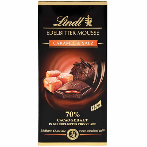 Lindt 70% Dark - Salted Caramel Mousse - 150g Bar