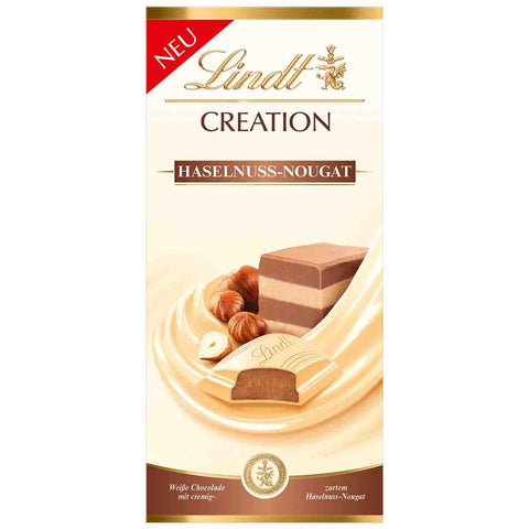 Lindt Creation - White Chocolate Hazelnut Nougat - 150g Bar