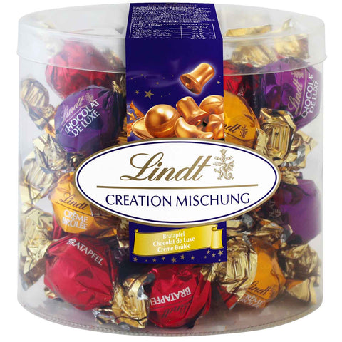 Lindt Creation Mixed Balls 3 varieties - 32 approx (360g Plastic Box)