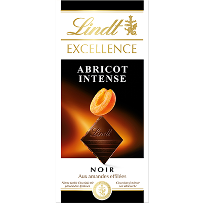 Lindt Excellence Dark Apricot & Almond - 100g Bar