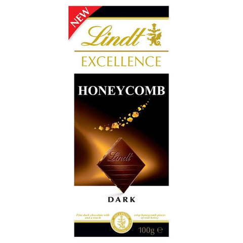 Lindt Excellence Dark Honeycomb - 100g Bar (Best Before End Oct 20)