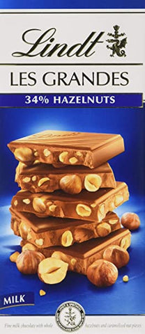 Lindt Les Grandes - Milk Chocolate Hazelnut - 150g Bar