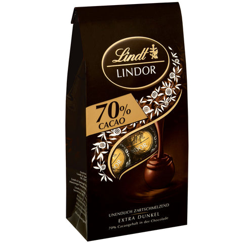 70% Dark Chocolate Lindt Lindor (136g Bag)