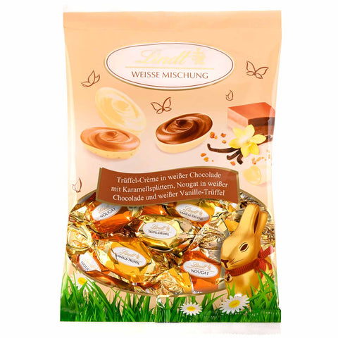 Lindt Mixed White Chocolate Filled Easter Eggs (14 Eggs 140g Bag) 3 varieties