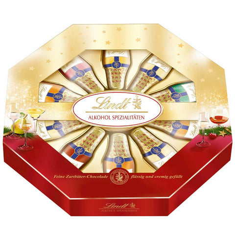 Lindt Dark Chocolate Liqueurs Gift Box 5 varieties (220g)