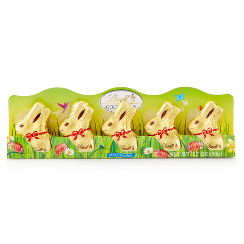 Lindt Milk Chocolate Easter Bunny 5 pack (50g)