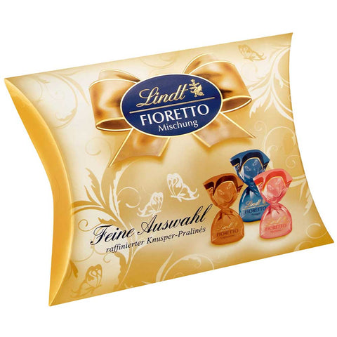 Lindt Fioretto Gift Box (253g) Cappuccino, Marzipan & Hazelnut Nougat (Best Before End Nov 20)