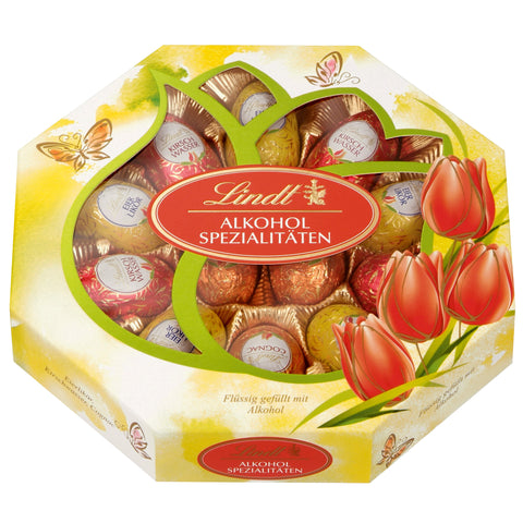 Lindt Liqueur Easter Eggs Gift Box (3 varieties 12 eggs 216g)