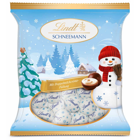 Lindt Mini Double Milk Snowballs Balls (100g Bag)