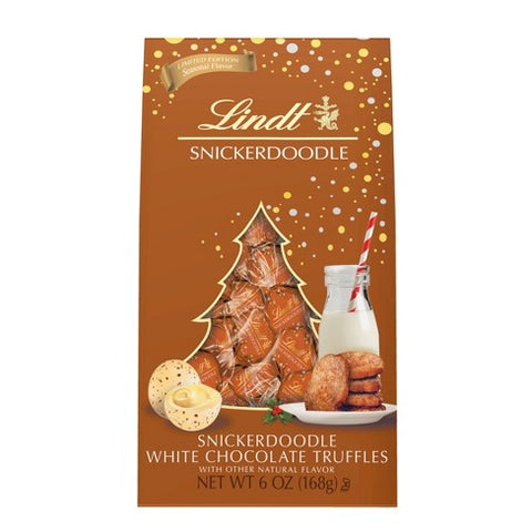 Snickerdoodle Lindt White Chocolate Christmas Truffles (168g Bag)