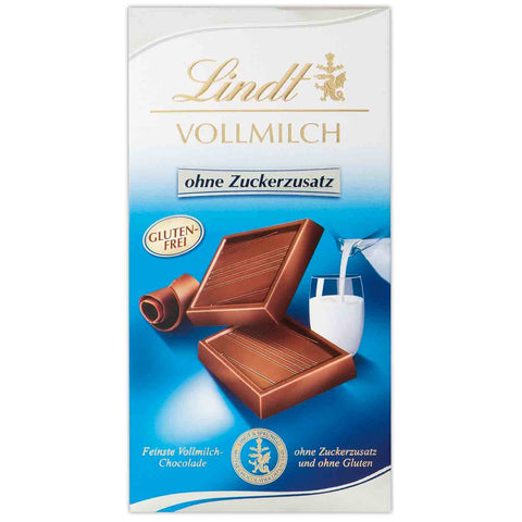 NEW! Lindt Milk Chocolate - 100g Bar - No Added Sugar Gluten Free