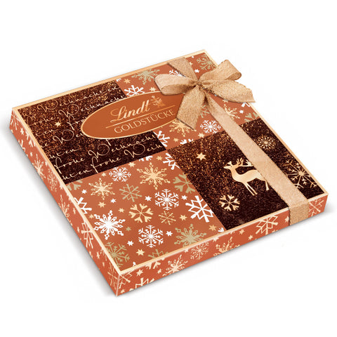 Lindt Rose Gold Pieces Christmas Gift Box (300g)