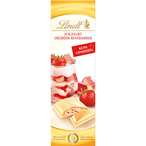 Lindt Yoghurt Strawberry & Rhubarb 100g Bar