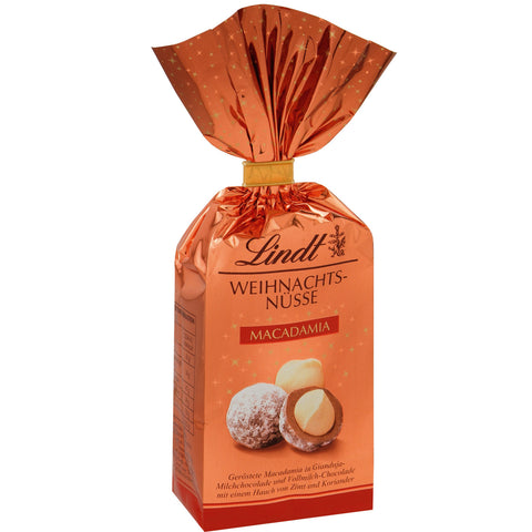 Lindt Christmas Chocolate Covered Nuts - Macadamias in Milk Chocolate (100g)