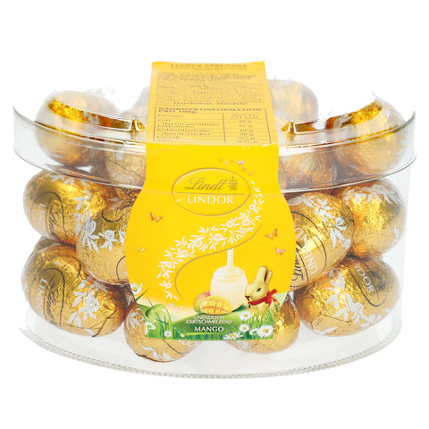 Mangoes & Cream Lindt Lindor Eggs (25 Eggs) in Plastic Box