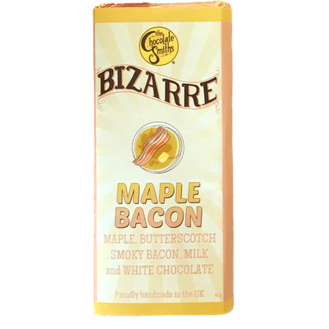 Mini Maple Bacon Milk & White Chocolate Bizarre Bar - 40g