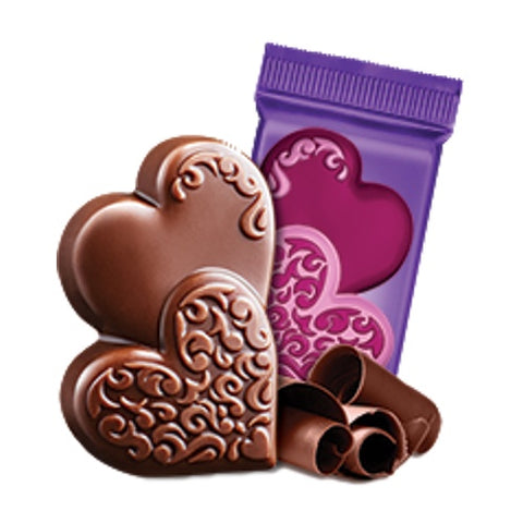 Ghirardelli Milk Chocolate Duo Hearts