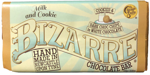Milk & Cookie White Chocolate Bizarre Bar - 100g