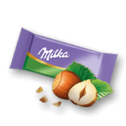 Milka Mini Hazelnut Milk Chocolate