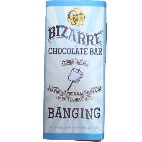 Mini Banging Toffee & Marshmallow White Chocolate Bizarre Bar - 40g