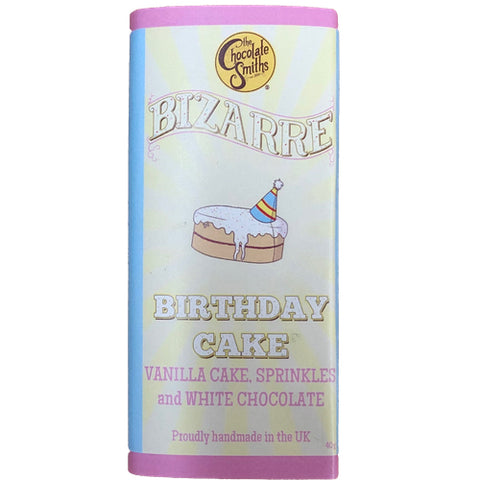 Mini Vanilla Birthday Cake White Chocolate Bizarre Bar - 40g