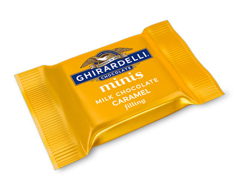 Mini Ghirardelli Caramel Milk Chocolate Squares