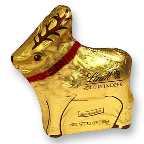 Lindt mini foil wrapped reindeer for christmas pick and mix bags
