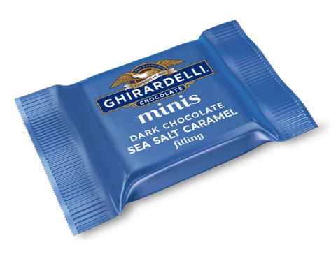 Mini Ghirardelli Salted Caramel Dark Chocolate Square