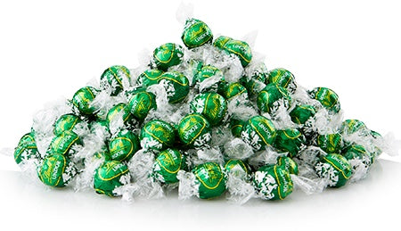 Lindt Lindor milk chocolate Mint balls in green wrapper
