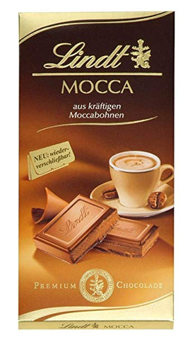 Lindt - Mocha Milk Chocolate - 100g Bar