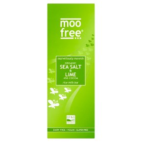 Moo Free Sea Salt & Lime Milk Chocolate Bar (80g) ORGANIC, DAIRY FREE & VEGAN