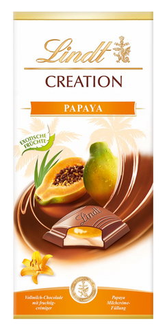 Lindt Creation - Papaya - 150g Bar (Best Before End Dec 18)
