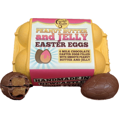 Chocolate Smiths Peanut Butter & Jelly Easter Eggs in Egg Box (6)