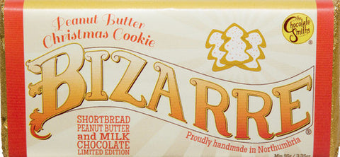 Peanut Butter Chistmas Cookie Milk & White Chocolate Bizarre Bar - 100g