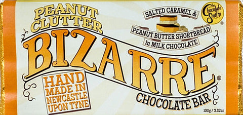 Peanut Clutter & Salted Caramel Milk Chocolate Bizarre Bar - 100g