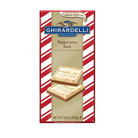 Ghirardelli Peppermint Bark Chocolate Bar (100g)