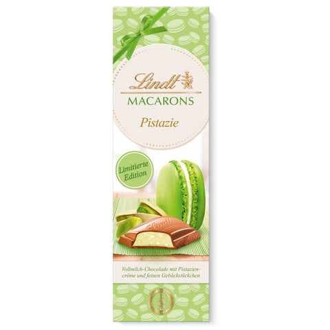 Lindt Pistachio Macarons Milk Chocolate - 100g Bar