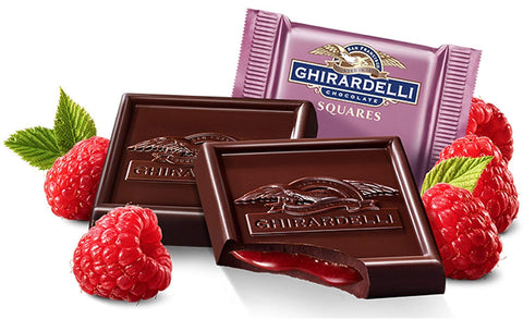 Ghirardelli Raspberry Dark Chocolate Squares (Best Before End Sept 20)