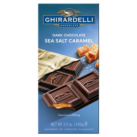 Ghirardelli Dark Salted Caramel Bar (100g)