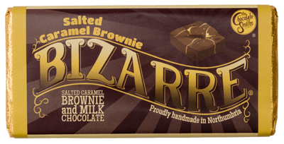 A milk chocolate salted caramel brownie bar, mixing all the flavours that drive chocolate connoisseurs crazy.  Brownie pieces smothered in milk chocolate and a generous sprinkling of salt! Perfect as Christmas stocking fillers.