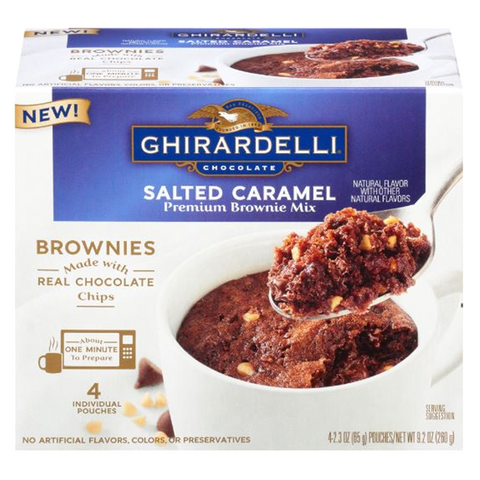 Ghirardelli Salted Caramel Chocolate Brownie Microwave Mug Mixes (4 pack)
