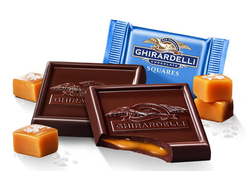 Damaged Dark Salted Caramel Ghirardelli Squares (10)