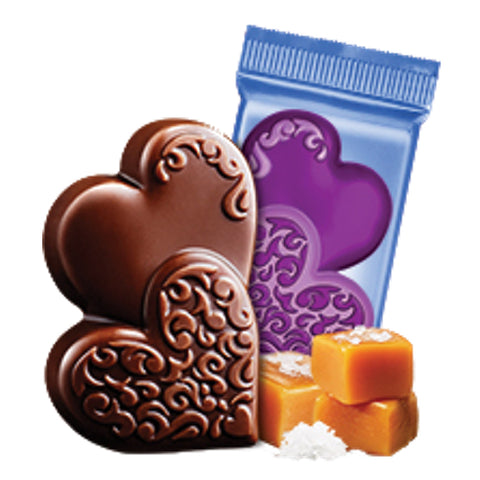 Ghirardelli Dark Chocolate Salted Caramel Valentines Heart Chocolate