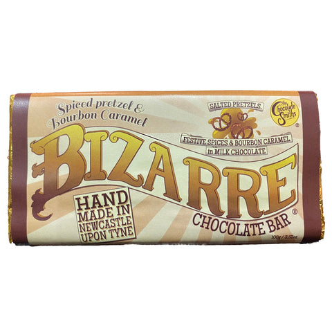Spiced Pretzel & Bourbon Caramel Milk Chocolate Bizarre Bar - 100g